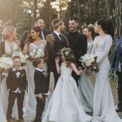 同志婚礼:婚纱设计师的豪华森林婚礼  George & Mitchell
