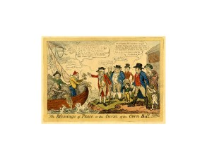The Blessings of Peace of the Curse of the Corn Law, Cruikshank