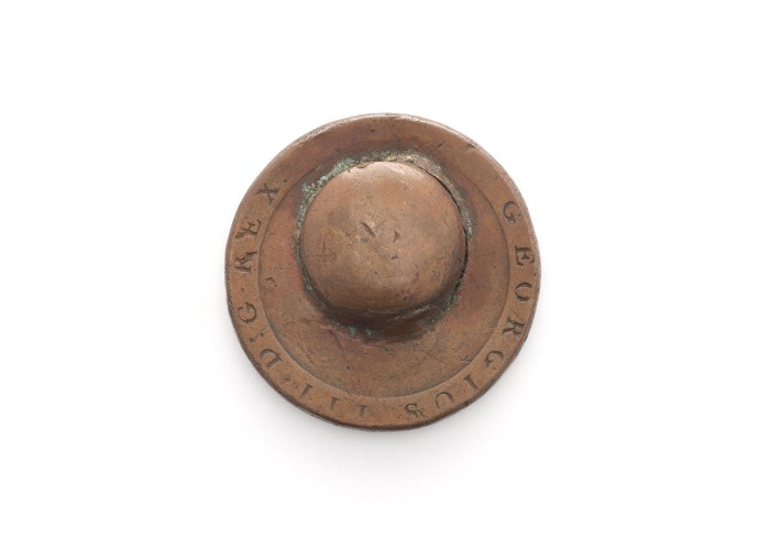 Penny Dented by a Bullet