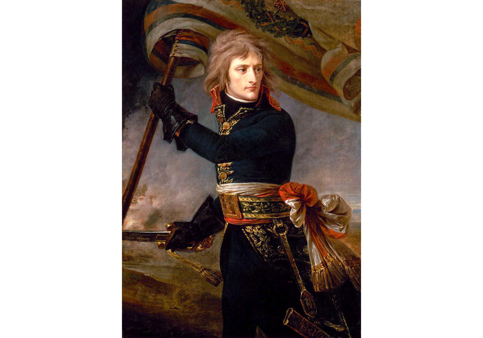 Bonaparte at the Pont d'Arcole, Antoine-Jean Gros - Age of Revolution
