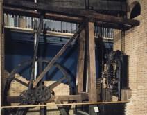 A modern photograph of the Bolton and Watt steam engine inside a museum