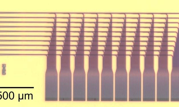 NIST Chip Lights Up Optical Neural Network Demo