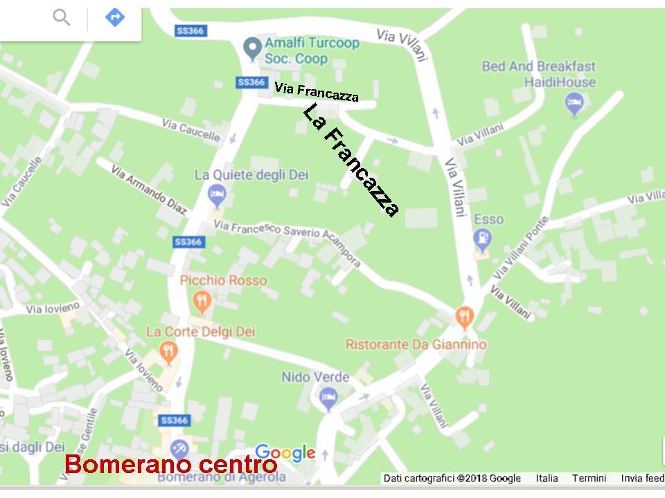 Mappa stradale di Bomerano nord (Agerola)