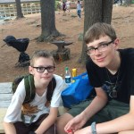 Ethan and Noah, ready for Opening Campfire.