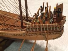 Amati's Nave Egizia, Egyptian Boat, built by Dan Drum of New Auburn, WI
