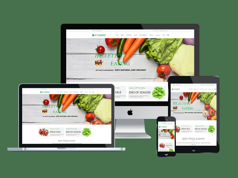 AT Vegeret  Free Organic Food Shop Joomla template Age