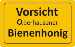 Vorsicht Bienenhonig aus Oberhausen
