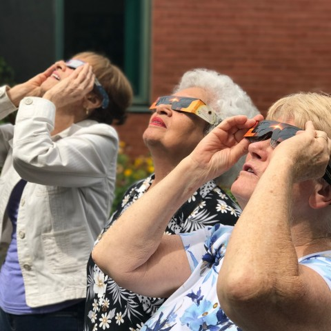 Elmwood Hall Danbury Senior Center-Solar Eclipse