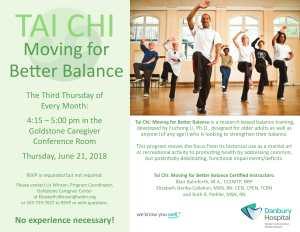 Tai Chi Moving for Better Balance @ Gold Stone Caregiver Center | Danbury | Connecticut | United States