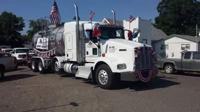 Dust Control Application Spray Truck Paul Yard