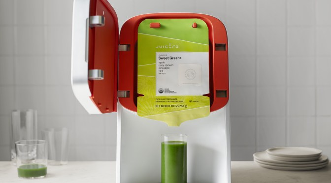 Juicero Press_Open Door with Pack