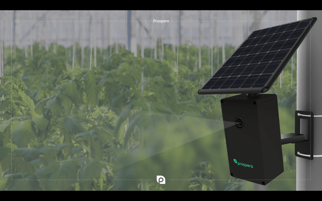 Prospera's solar-powered sensor and camera system.