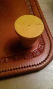 Ag Geo NW yellow plastic cap for property corners
