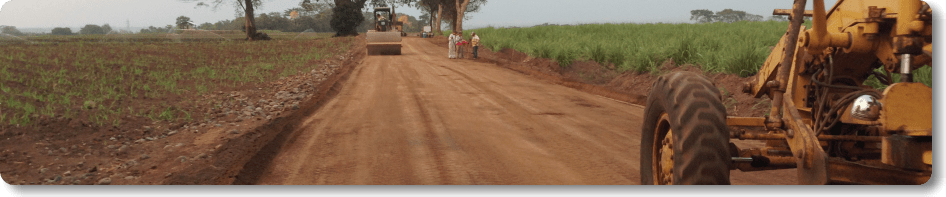 AggreBind soil stabilizing a road