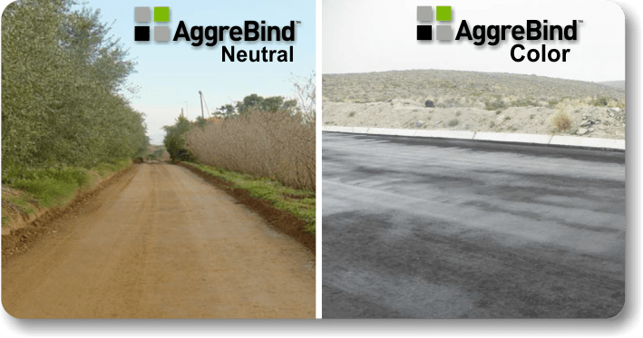 how to stabilize a road completed AggreBind surface