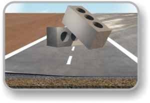 Soil stabilizing bricks, blocks and roads