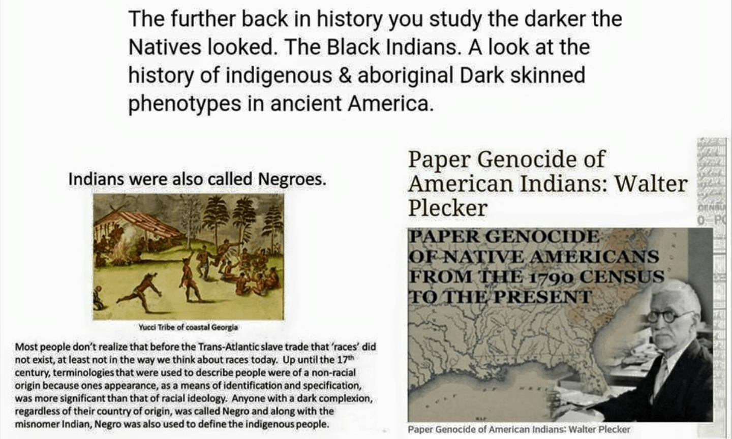 paper genocide from native to negro image