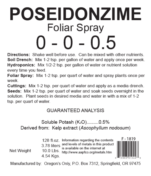 Poseidonzyme Seaweed Enzyme