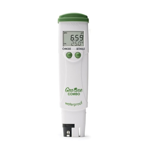 GroLine Hydroponic Waterproof Pocket pH/EC/TDS/Temperature Tester