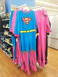SuperGirlFootiePajamas