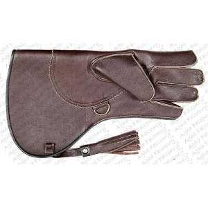 Dark Brown Cowhide Falconry Glove (ABI-1033)