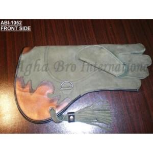 Nubuck Falconry Glove with Flashing (ABI-1052)