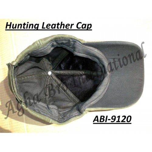 Leather Nubuck Hunting Cap (ABI-9120)
