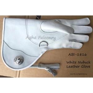 White Nubuck Leather Falconry Glove (ABI-1816)