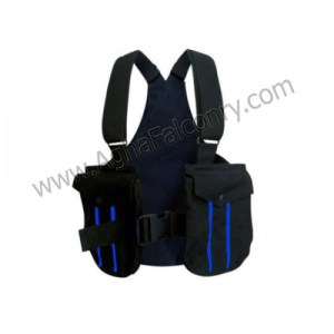 Falconry Black with Blue Lines Cordura Vest (ABI-8800)