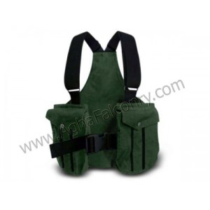 Falconry Olive Green with Black Lines Cordura Vest (ABI-8901)