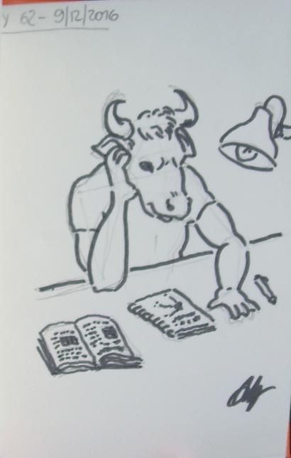 drawing-streak-62-minotaur-studying