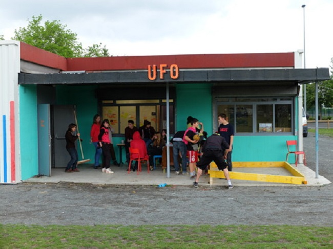 The Atelier in the vacant space (Clermont-Ferrand), from the UFO blog here