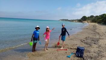 Soledad crew at Porquerolles island beach