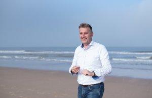 Gerrit op strand