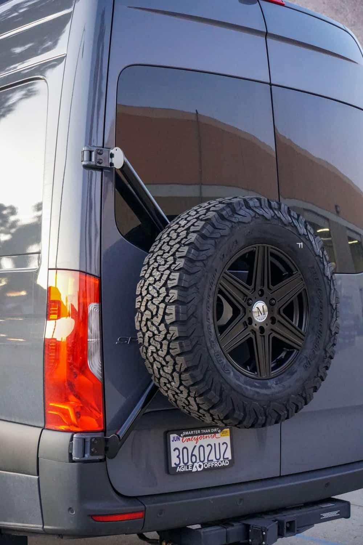 ao rear door tire carrier for vs30 sprinter 2019