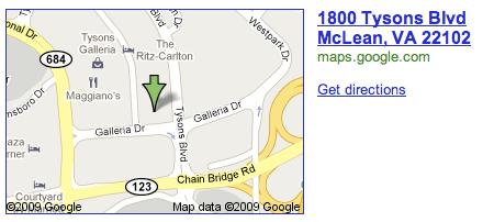 Inox Restaurant location in Tysons Corner (McLean) Virginia