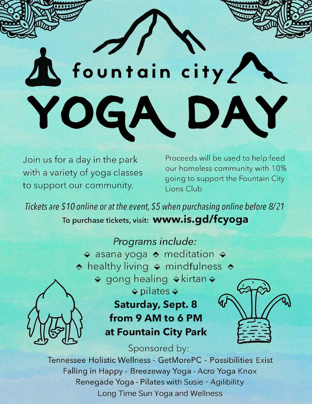 fountain city yoga day marketing