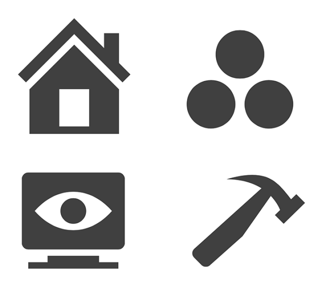 Diversity of concept behind the icon shape