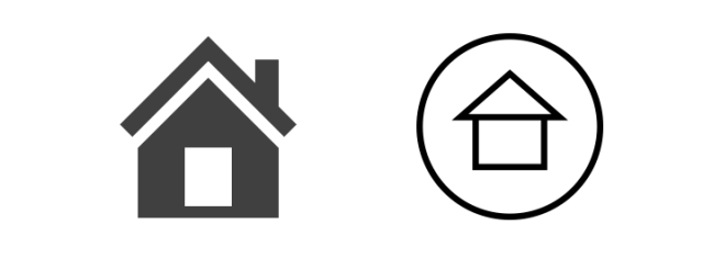 Current come icon and new simplified home icon