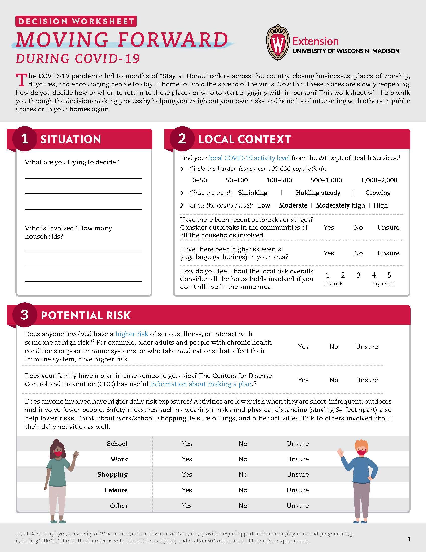 Decision Guide Worksheet Life Span