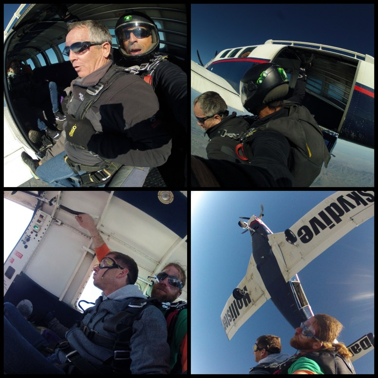 skydiving-jumping collage