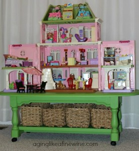 dollhouse on table