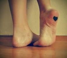 Feet with heart