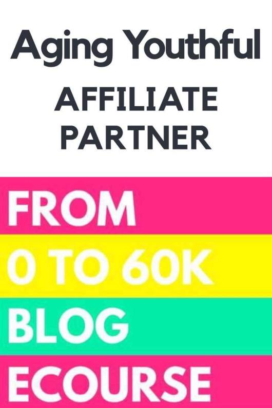 Aging Youthful Affiliate Partner: $0 to 60K Blog e-course