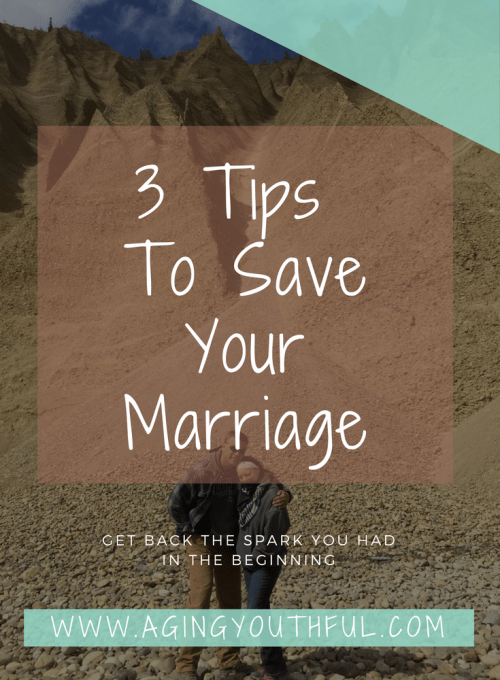 3 tips to reconnect with your partner and save your marriage.
