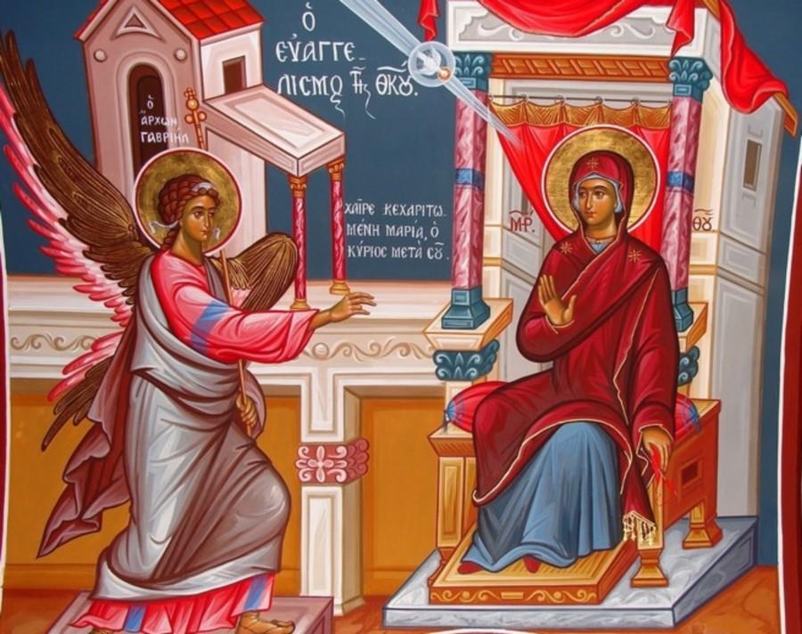 Αγίου Γρηγορίου του Παλαμά: Ομιλία στον Ευαγγελισμό της πανυπέραγνης Δέσποινας μας Θεοτόκου και αειπαρθένου Μαρίας.