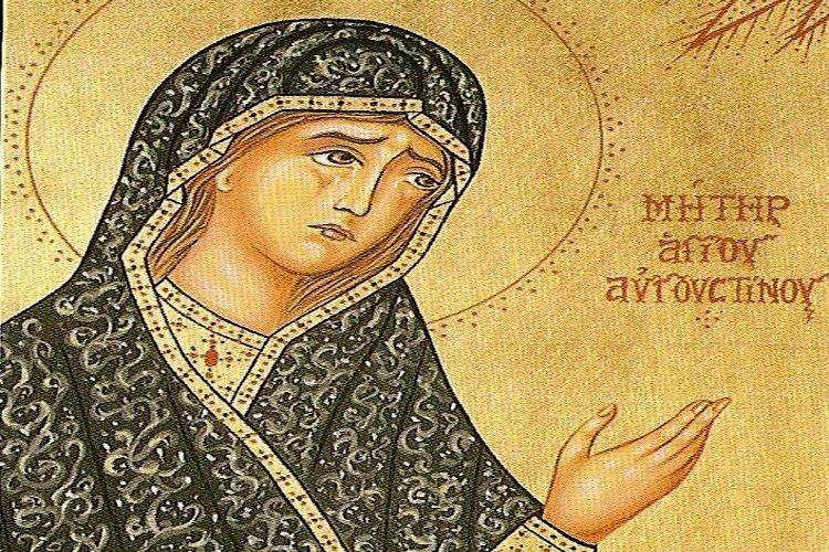 Η Αγία Μόνικα· η υποδειγματική, σύζυγος και μητέρα του Ιερού Αυγουστίνου (εορτάζει στις 4 Μαΐου)