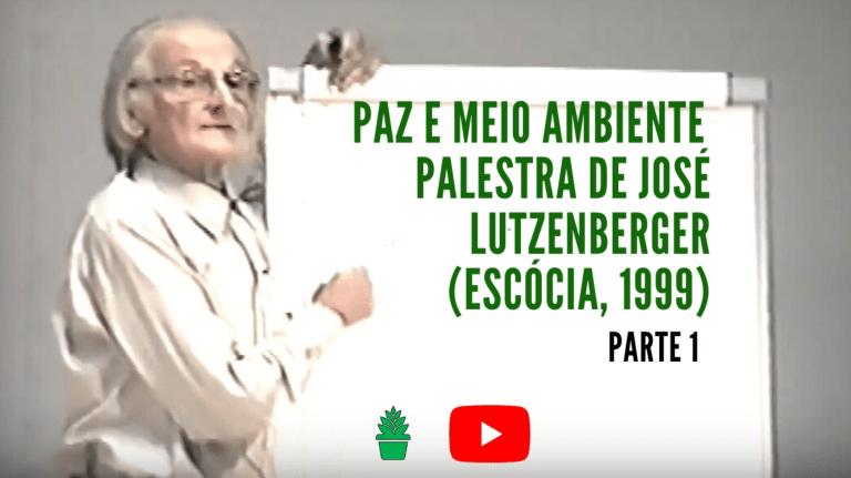 """Palestra  """"O Contexto da Paz – sociedade e meio ambiente"""" proferida por José Lutzenberger há 21 anos será disponibilizada"""