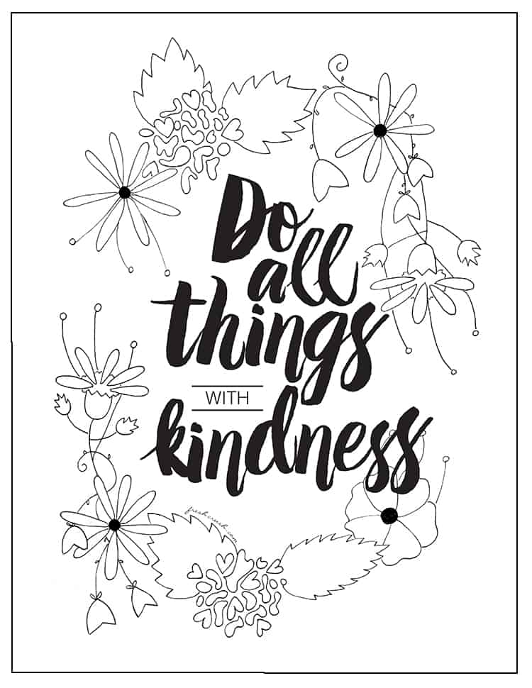 Showing Kindness To Others Coloring Page Coloring Pages