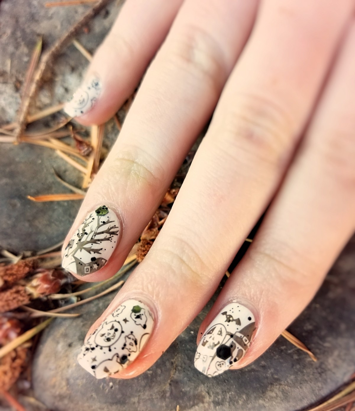 Halloween Stamped Nails